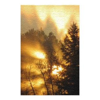 Forest Sunrise Custom Stationery