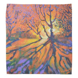 Forest sunset - nature Bandana