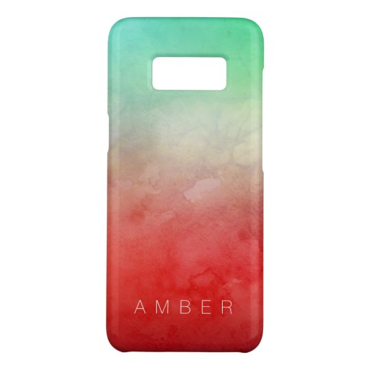 Forest Sunset Watercolor Personalised Case-Mate Samsung Galaxy S8 Case