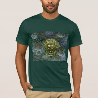 Forest T-Shirt w. Independence Coin Cameroons 1960