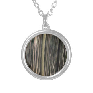 Forest Texture Round Pendant Necklace