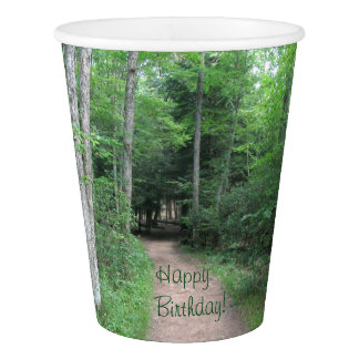 Forest Trail Birthday Paper Cup