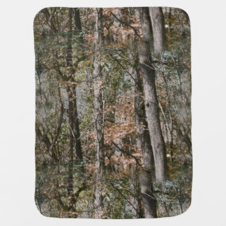 Forest Tree Camo Camouflage Nature Hunting/Fishing Baby Blanket