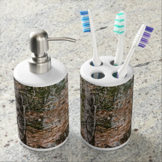 Forest Tree Camo Camouflage Nature Hunting/Fishing Bathroom Set