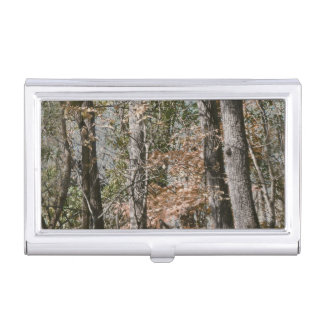 Forest Tree Camo Camouflage Nature Hunting/Fishing Business Card Holder
