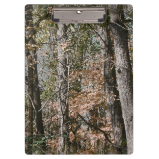 Forest Tree Camo Camouflage Nature Hunting/Fishing Clipboard