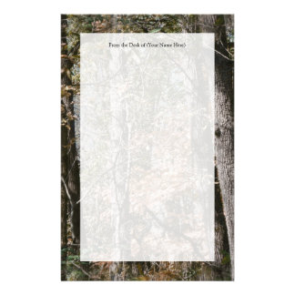 Forest Tree Camo Camouflage Nature Hunting/Fishing Personalised Stationery