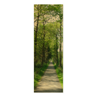 Forest Trees and Path Bookmarks Cards Business Card Template
