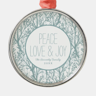 Forest Trees Pattern Christmas Ornament