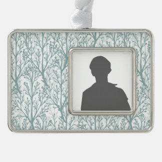 Forest Trees Pattern Silver Plated Framed Ornament