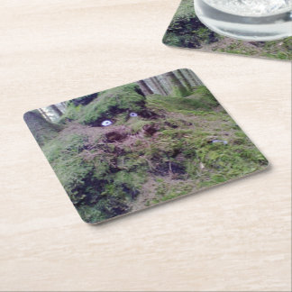 Forest Troll Square Paper Coaster