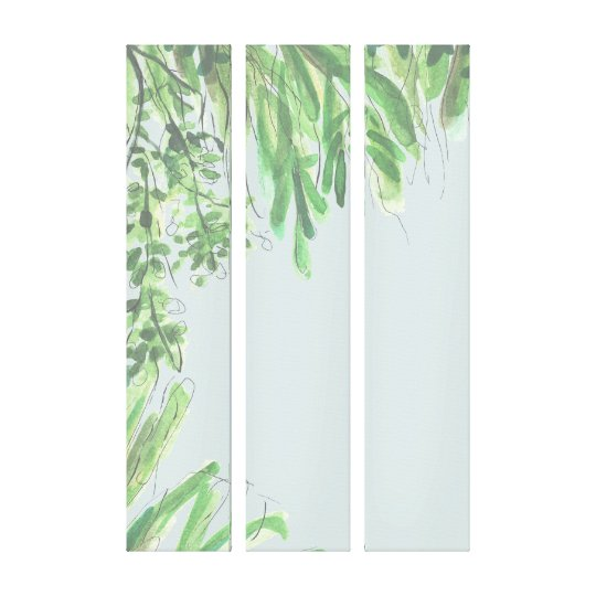 Forest Tropical Triptich Canvas Print