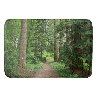 Forest walk, highlands, Scotland Bath Mats