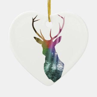 Forest Watcher Ceramic Heart Decoration