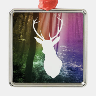 Forest Watcher Silver-Colored Square Decoration
