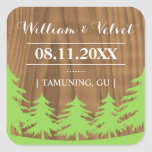 Forest Wedding Favour Stickers