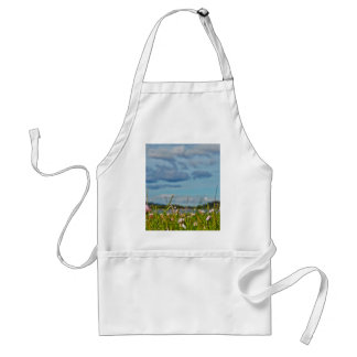 Forest With Flowers And Cloudy Sky Standard Apron