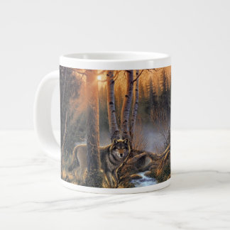 Forest Wolves 20 Oz Large Ceramic Coffee Mug Jumbo Mug