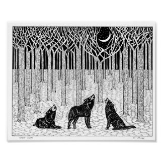 Forest Wolves Poster