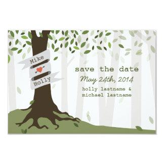 Forest / Woodland Wedding Save The Date 9 Cm X 13 Cm Invitation Card