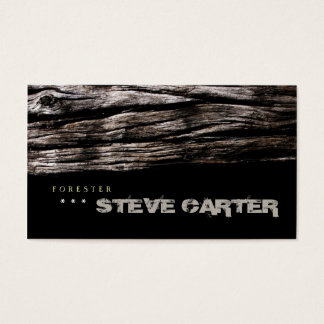 Forester Wood Forest Tree Nature Farmer Furniture Business Card