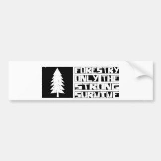 Forestry Survive Bumper Sticker