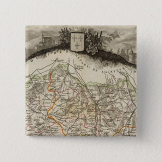 Forests and city boundaries 15 cm square badge