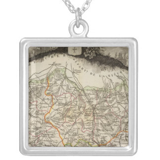 Forests and city boundaries silver plated necklace
