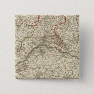 Forests and roads of France 15 Cm Square Badge
