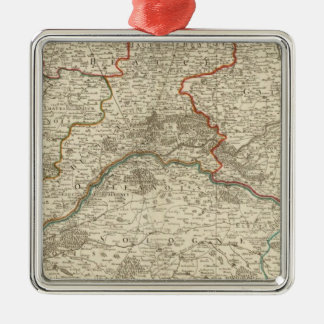 Forests and roads of France Silver-Colored Square Decoration