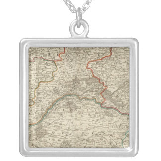 Forests and roads of France Silver Plated Necklace