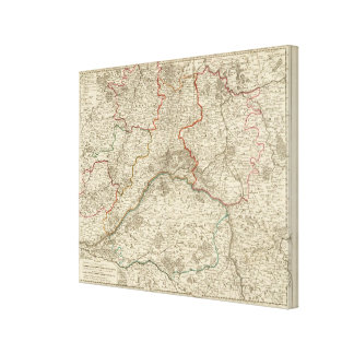 Forests and roads of France Stretched Canvas Prints