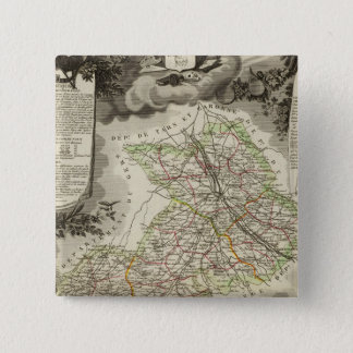 Forests, cities, towns 15 cm square badge