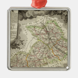 Forests, cities, towns christmas ornament