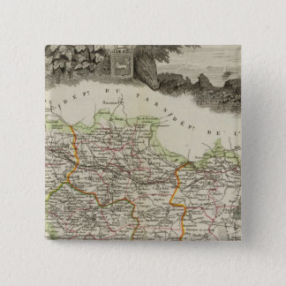 Forests shown by stippling District 15 Cm Square Badge