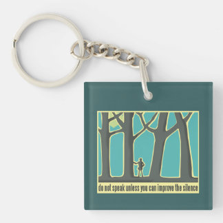 Forests, Trees, Hiking Single-Sided Square Acrylic Keychain