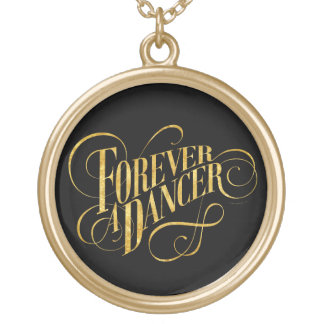 Forever A Dancer Round Pendant Necklace