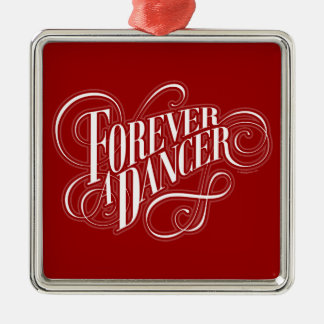 Forever A Dancer Silver-Colored Square Decoration