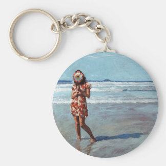 Forever After Basic Round Button Key Ring
