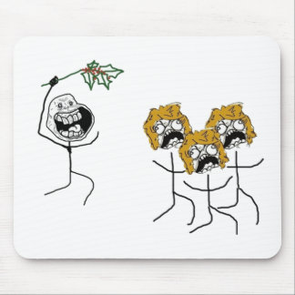 Forever Alone Christmas Mouse Pad