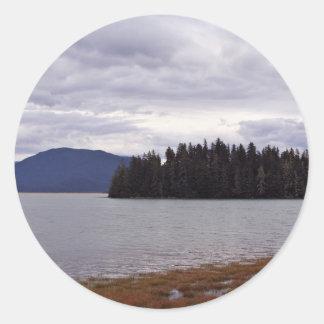Forever Alone In Alaska Round Sticker
