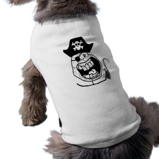 Forever Alone Pirate Comic Face Sleeveless Dog Shirt