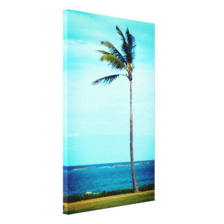 Forever Alone Tropical Palm Tree Canvas Print