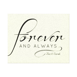 """""""Forever & Always"""" Canvas 