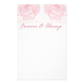 Forever & Always Rose Stationery
