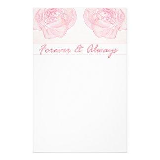 Forever & Always Rose Custom Stationery
