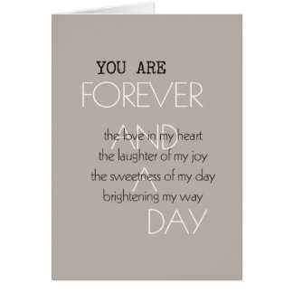 Forever and A Day Poem Greeting Card
