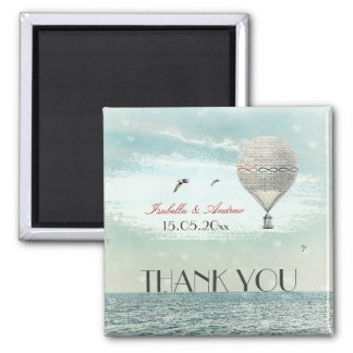 Forever and for always flight - wedding thank you refrigerator magnet