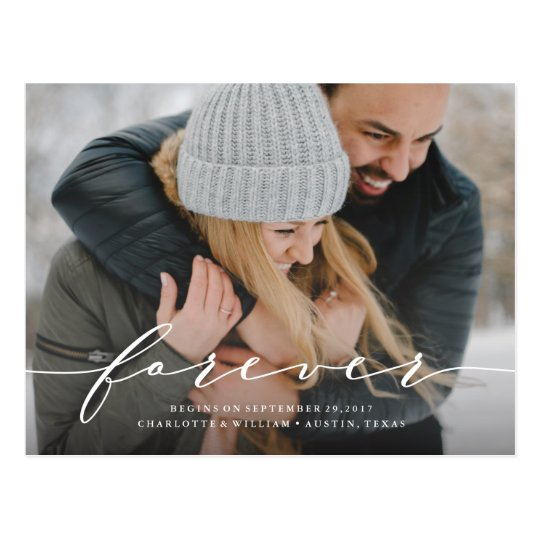 Forever Begins Save the Date Photo Postcard