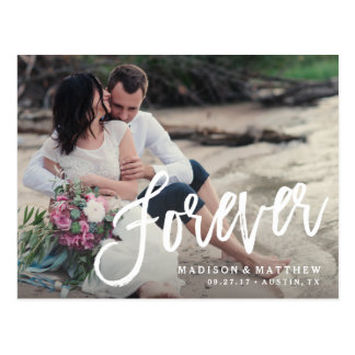 Forever Brushed Save the Date Announcement Postcard